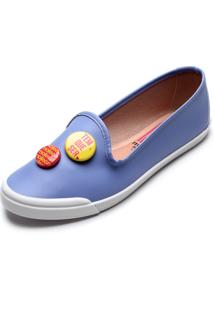 Slipper Moleca Botons Azul