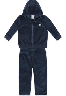 Conjunto Bebê Menino Com Jaqueta E Calça Em Plush Hering Kids