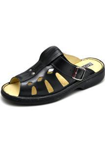 4f7e287f72 Sandalia Masculina Conforto Top Franca Shoes Preto