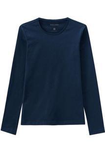 Camiseta Feminina Malwee 1000026304 02023-Azul-Mar