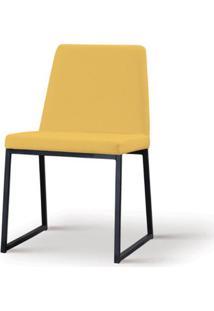 Cadeira Graty Amarela Base Preta - 55867 Sun House
