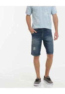 Bermuda Masculina Jeans Puídos Biotipo