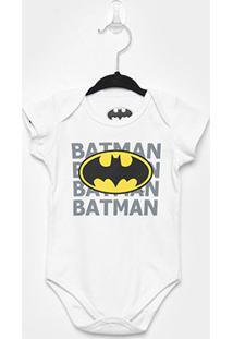 Body Infantil Marlan Batman Bebê - Masculino-Branco