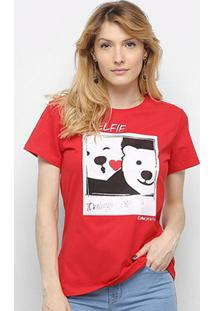 Camiseta Coca Cola Aroma Self Feminino - Feminino-Vermelho Escuro