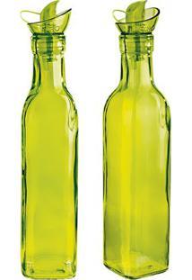 Jogo De Azeiteiro & Vinagreiro Colors- Verde- 2Pã§S