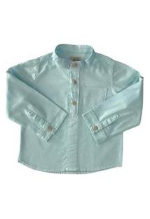 Camisa Menino Mabu Denim Infantil Azul