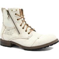 2d2a56a19 Bota Coturno Zariff Shoes Rock Masculina - Masculino-Branco