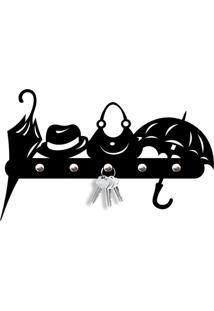 Porta Chaves Objetos Love Decor Preto - Tricae