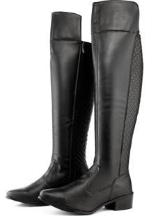 109d33067 Bota Over Knee Bico Fino Matelasse feminino | Shoes4you