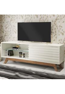 Rack Para Tv Até 55 Polegadas 100% Mdf 1 Porta R514 Off White/Nobre - Dalla Costa