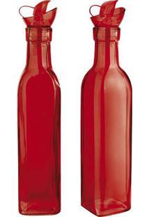 Jogo De Azeiteiro & Vinagreiro Colors- Vermelho- 2Pã§Euro Homeware