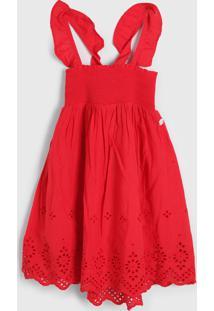 Vestido Hering Kids Infantil Laise Vermelho