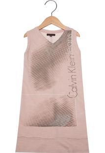 74cbfb2b1ecc4 Vestido Calvin Klein Vermelho infantil   Shoes4you