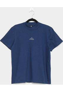 Camiseta Colcci Feminism Super Hero Feminina - Feminino-Azul