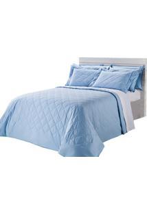 Colcha Matelasse-Royal Comfort-Solteiro-02 Pçs-Azul