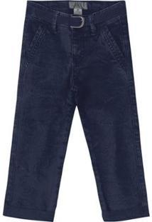 Calça Sarja Com Cinto Bebê Tigor T. Tigre Masculina - Masculino-Azul