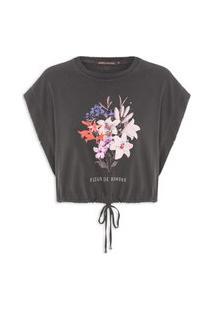 Camiseta Feminina Lírio - Preto