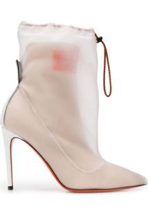 Heron Preston Ankle Boot Com Sobreposição - Neutro