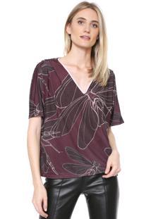 Camiseta Forum Estampada Vinho