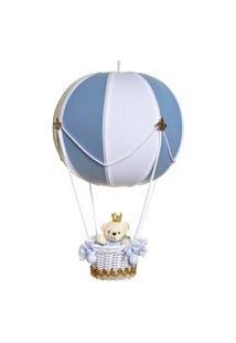 Lustre Baláo Bolinha Ursinho Príncipe Bebê Infantil Menino Potinho De Mel Azul