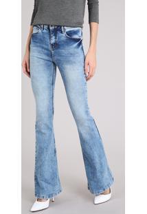 Calça Jeans Feminina Flare Azul Claro