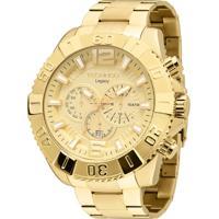 90dc04f85a3 Relógio Technos Pulseira De Aço - Masculino-Dourado