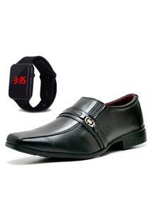 Sapato Social Com Relógio Led Dubuy 806Mr Preto