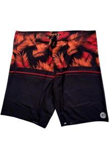 Bermuda Boardshort Stretch Wss Tropical Red Masculina - Masculino