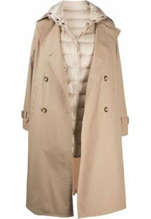 Moncler Down-Feather Trench Coat - Neutro
