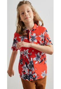 Camisa Pf Mini Mc Delirios Reserva Mini Vermelho - Kanui