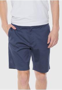 Bermuda Sarja Calvin Klein Chino Listrada Azul - Kanui