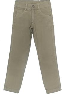 Calã§A Look Jeans Skinny Caqui - Bege - Menino - Algodã£O - Dafiti