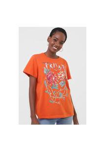 Camiseta Colcci Trust Love Laranja