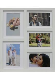 Painel De Fotos Fine 36X43 5 Fotos 10X15 Branco Kapos