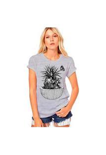 Camiseta Coolest Caveira Bromélia Cinza
