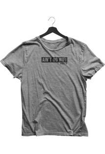 Camiseta Jay Jay Básica Ocean Preserve Cinza Mescla Dtg