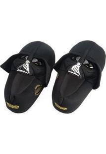 Pantufa 3D Ricsen Darth Vader - Unissex-Preto