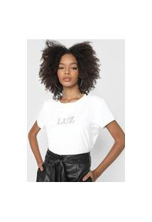 Camiseta Lança Perfume Aplicações Branca