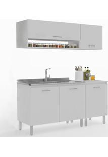 Cozinha Compacta Uccelli 5 Portas 600071 Gris - Manfroi