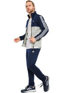 Agasalho Adidas Back2Bas 3S Azul-Marinho Cinza 0c38358026000