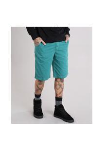 Bermuda Masculina Slim Verde