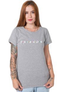 Camiseta Friends Cinza Stoned - Cinza - Feminino - Algodã£O - Dafiti