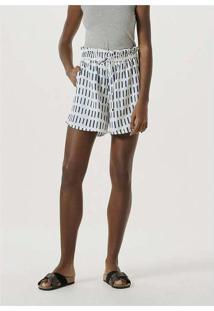 Shorts Feminino Pijama Em Tecido De Viscose Branco