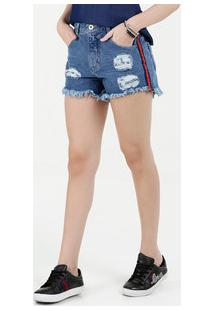 1743c0fdbf Short Feminino Jeans Hot Pants Destroyed Biotipo