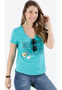 Blusa Feminina Mickey Frase Frontal Disney