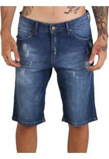 Bermuda Mcd Jeans Slim Destroyed Masculina - Masculino