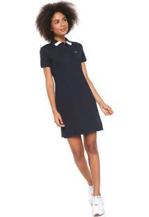 48513f53e7c8f Vestido Polo Lacoste Curto Logo Azul-Marinho
