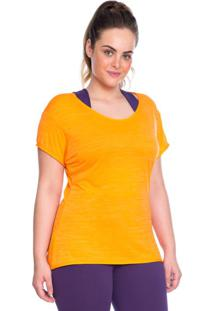 Camiseta Plus Baby Look Laranja | 553.822P