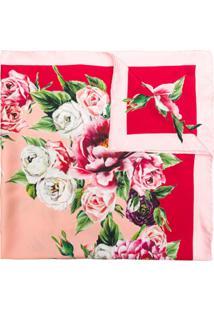 Dolce & Gabbana Lenço Floral De Seda - Rosa