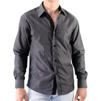 Camisa Zimpool Social Slim Fit Manga Longa Preta eaeaf756b9059